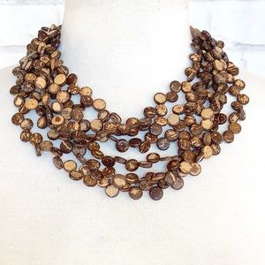 Authentic Vintage Coconut Husk Necklace
